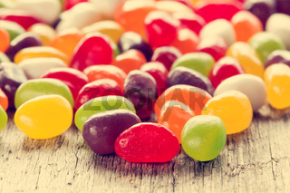 Mixed colorful candies close-up