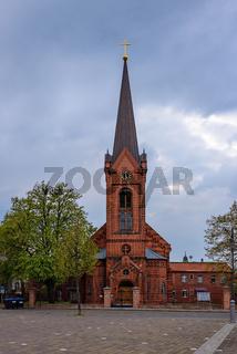 Katholische St.-Heinrich-Kirche am Marktplatz in Wittenberge