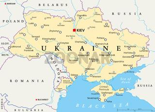 Ukraine Landkarte