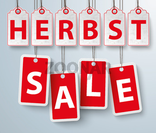 Red Price Stickers Herbst Sale
