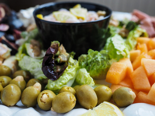 Olives in delicious salad