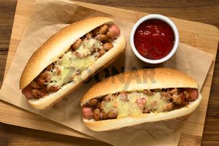 Baked Chili Hot Dog
