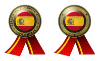 Set of 2 Spain seals Made in message and blank