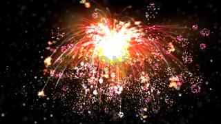 Digital Illustration of a Fireworks
