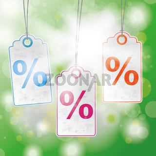Summer Sunlight Bokeh Price Stickers Percent