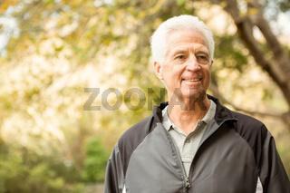 Senior man in the park