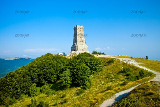 Memorial Shipka view in Bulgaria