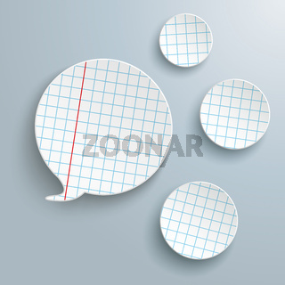 Checked Paper Speech Bubble 3 Circles PiAd