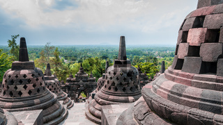 Stupas on the top of Borobudur