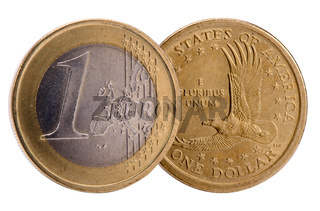 Dollar and Euro currency