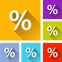 percentage icons
