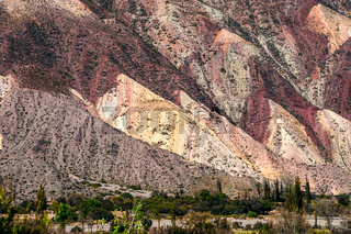 Colorful valley of Quebrada de Humahuaca, central Andes Altiplano, Argentina