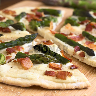 Asparagus and Bacon Tarte Flambee