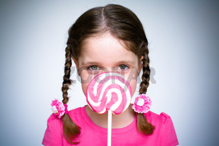 Young Girl With Lollypop