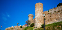 Tossa de Mar, Spain, Watchtower of the medieval fortress Vila Vella