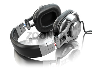 Headphones isolated on white background.