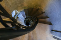 Tower stairs in Quinta da Regaleira