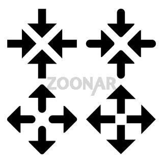 arrow box symbol