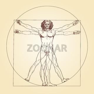 Vitruvianischer Mensch von Leonardo da Vinci