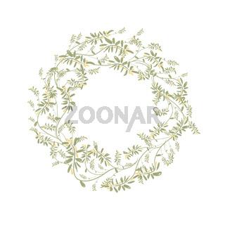Spring floral frame for your design