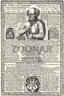 leaflet, Paracelsus, 1493 - 1541, a Swiss physician