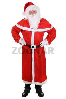Weihnachtsmann Nikolaus mit Mütze und Bart an Weihnachten Ganzkörper Freisteller