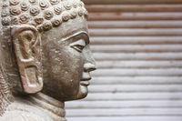 Closeup of Gautaum Buddha statue
