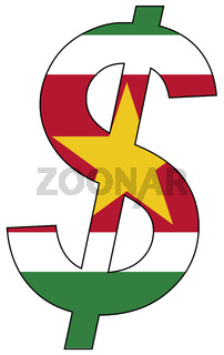dollar - flag of suriname