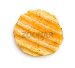 Crinkle cut potato chips.
