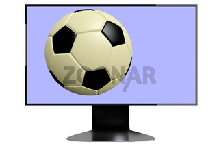 Screen with football
