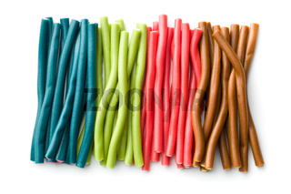 Sweet gummy sticks with different flavor.