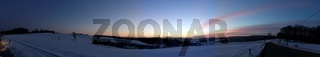 morgentliches Winter Schneepanorama