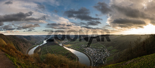 Panorama Moselle Loop Bremm, Germany