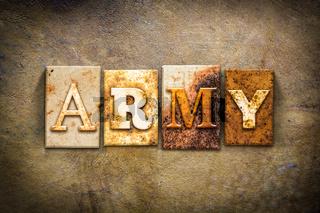 Army Concept Letterpress Leather Theme