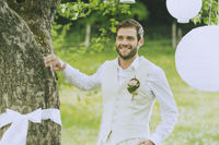 Garden Wedding Groom