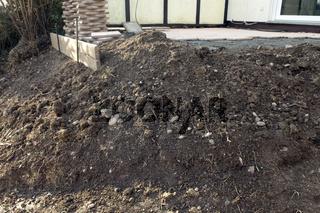Steingarten; Bau, Bauphase, anlegen, neu,