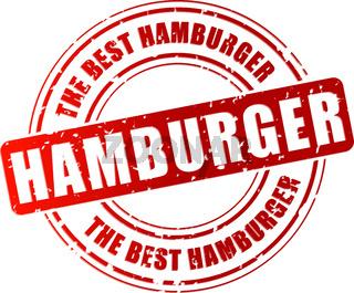 Vector hamburger stamp