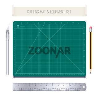 Cutting Mat and Equipment Set