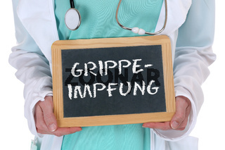 Grippeimpfung Grippe Impfung impfen krank Krankheit Arzt Doktor