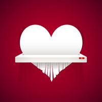 Paper Heart is Cut into Shredder
