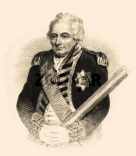 Admiral of the Fleet John Jervis, 1st Earl of St Vincent, 1735-1823, an admiral in the Royal Navy