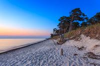 Sonnenuntergang am Darßer Weststrand