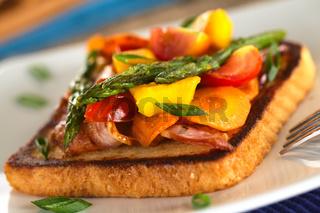 Baked Asparagus Sandwich