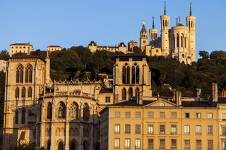 Basilica of Notre-Dame de Fourviere and Lyon Cathedral