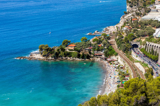 Small bay and beach on French Riviera.