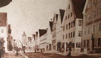 Alte Stadtansicht Mindelheim 1880