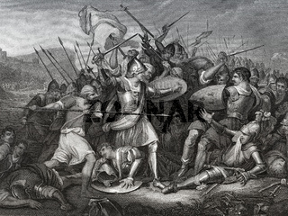 The Battle of Agincourt or Azincourt, 1415, Hundred Years' War