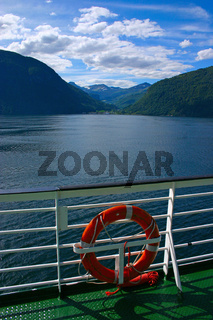 Fjord seen from boat deck
