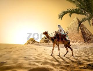 Pyramids in hot desert