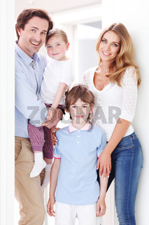 happy family inside house